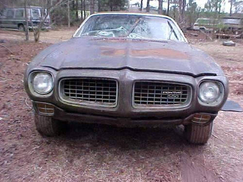 1972 Pontiac Firebird Esprit Missing Engine For Parts Or