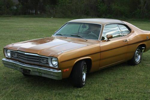 1973 Plymouth Gold Duster 318 Eng Auto Air Saturday