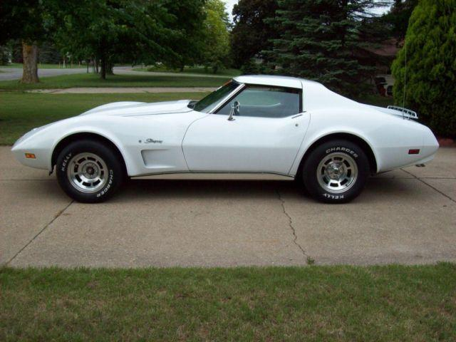1974 Chevrolet Corvette Stingray White T Tops Automatic