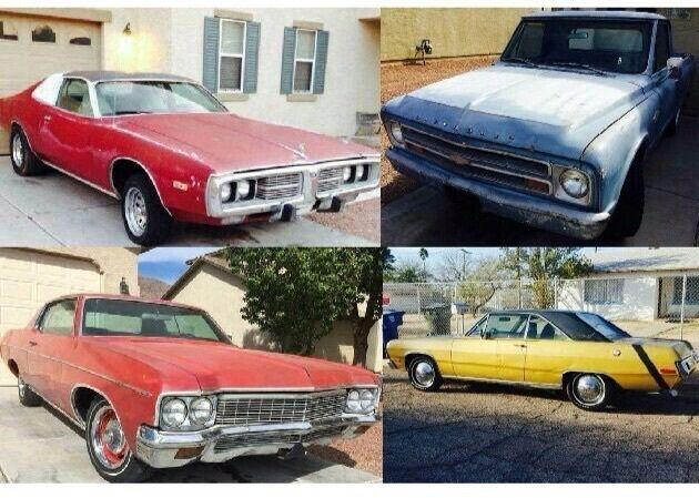 1974 DODGE CHARGER 1970 IMPALA 1967 CHEVY C-10 TRUCK 1972 SCAMP
