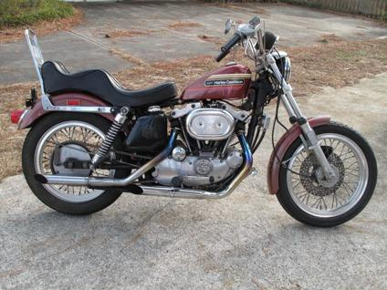 1974 Harley Davidson Sportster XLH 1000 AMF Original Paint '''& Bike Low  Miles X