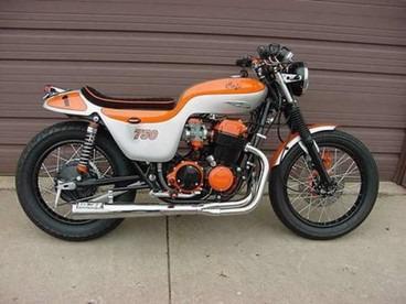 1974 honda cafe cb750 custom built for sale in dallas for Honda motorcycle dealer dallas
