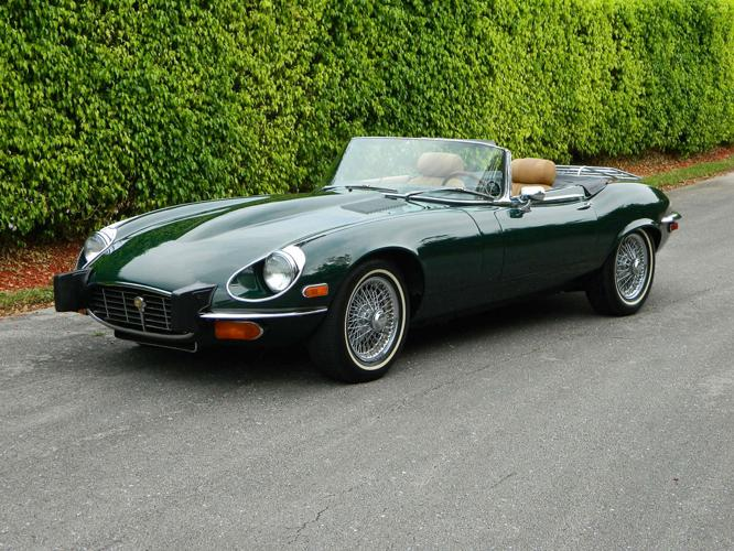 1974 JAGUAR XKE V-12 ROADSTER BRITISH RACING GREEN