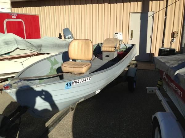 1975 crestliner 12 39 aluminum fishing boat with 5 1 2 hp for Best aluminum fishing boat for the money