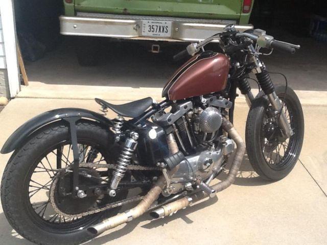 1975 Harley Bobber Old School Kickstart Only Just