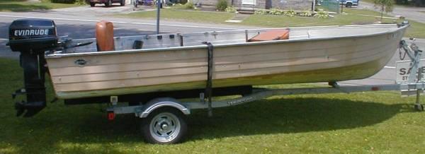 1975 MIRROR CRAFT Boat w/ Evinrude 25hp Engine +