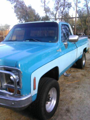 1976 chevy 4x4 truck 3 4 ton c20 loaded for sale in desert hot springs california classified. Black Bedroom Furniture Sets. Home Design Ideas