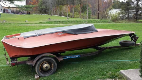 1976 Hydrostream Vector hull/trailer only - $1200
