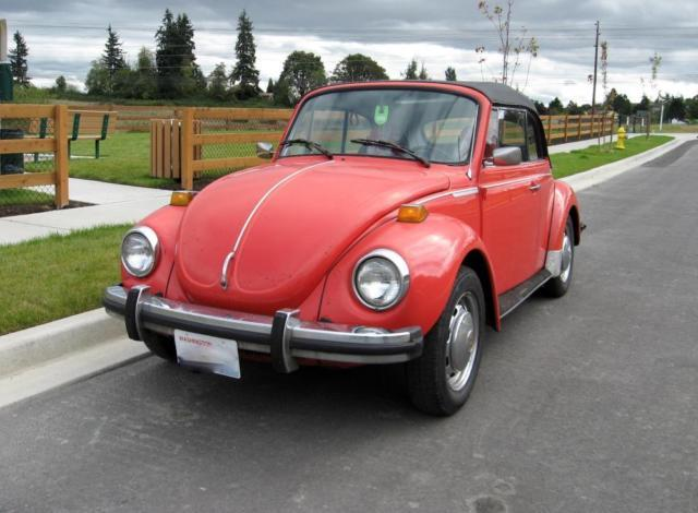 1976 volkswagen super beetle convertible for sale in algona washington classified. Black Bedroom Furniture Sets. Home Design Ideas
