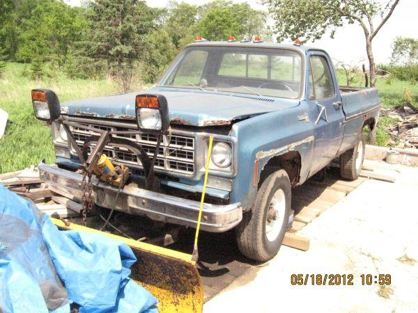 1977 CHEVY 4X4 3/4 TON WITH PLOW - $2650 (GARFIELD, MN)