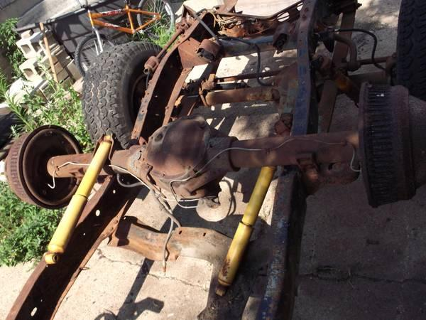 1977 CHEVY DUALLY REAR END - $200