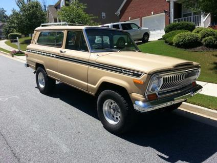 1977 jeep amc cherokee chief s quadratrack 4x4 low miles for sale in mableton georgia. Black Bedroom Furniture Sets. Home Design Ideas