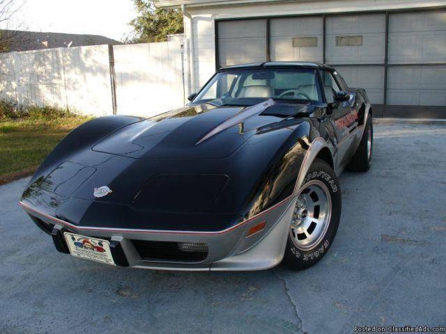1978 78 corvette indy pace car auto only 34 k miles for sale in saint cloud florida. Black Bedroom Furniture Sets. Home Design Ideas