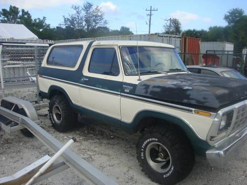 1979 ford bronco full size for sale in stuart florida classified. Black Bedroom Furniture Sets. Home Design Ideas