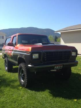 Lifted F150 For Sale >> 1979 Ford Bronco Lifted Custom Paint Job for Sale in Sandpoint, Idaho Classified ...