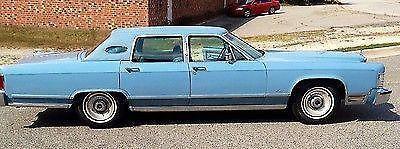 1979 Prestige Lincoln Continental Towncar Light Blue For Sale In