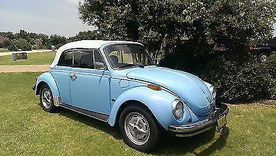 1979 SuperBeetle Convertible Karmann BabyBlue/White