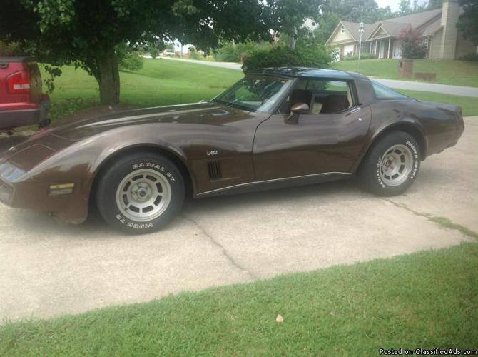1980 chevrolet corvette l82 2 door coupe for sale in phenix city alabama classified. Black Bedroom Furniture Sets. Home Design Ideas