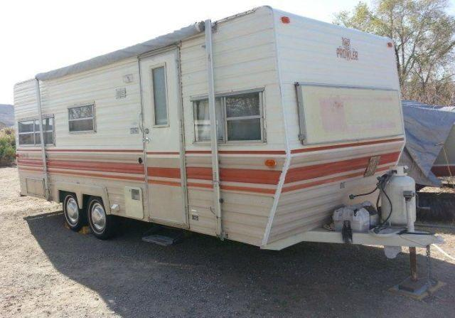 1980 Fleetwood Prowler 23 Rv Trailer Perfect For Burning