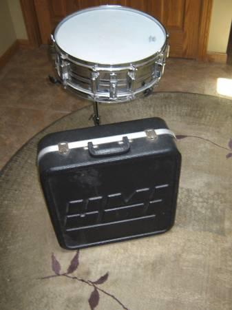 1980's Pearl Chrome Snare with Stand and Case - $100