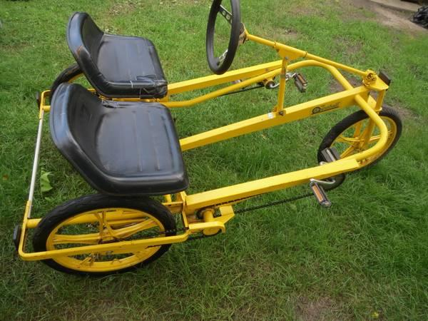 1980s SIDE by SIDE tandem Recumbent bicycle by GT w/ BMX LESTER WHEELS -  $600