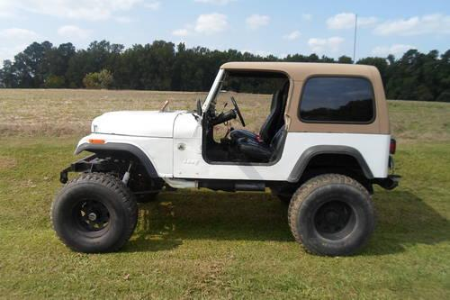 1981 jeep cj7 lifted v8 new motor for sale in raleigh north carolina classified. Black Bedroom Furniture Sets. Home Design Ideas