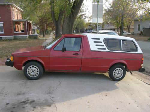 1981 volkswagen vw rabbit pickup diesel with optional guidon topper for sale in inman kansas. Black Bedroom Furniture Sets. Home Design Ideas