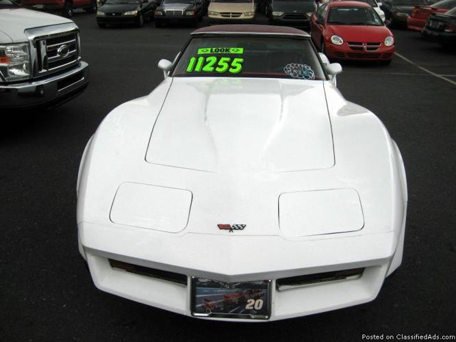 1982 chevy corvette for sale in allentown pennsylvania classified. Black Bedroom Furniture Sets. Home Design Ideas