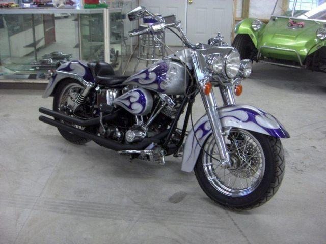 1982 CUSTOM HARLEY FLH SHOVEL HEAD, MATCHING S