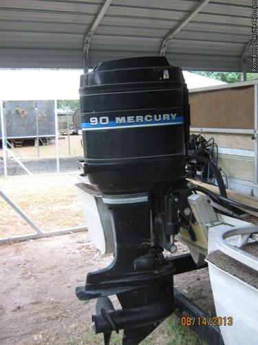 1982 mercury 90hp outboard pontoon motor for sale in for Boat motors for sale louisiana
