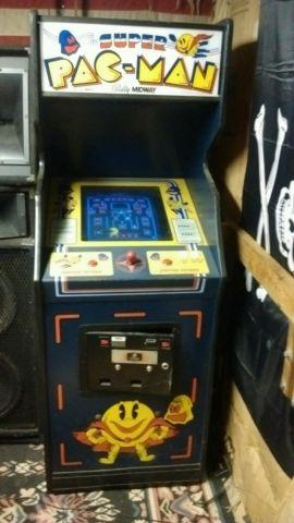 1982 SUPER PAC-MAN STANDUP ARCADE MACHINE