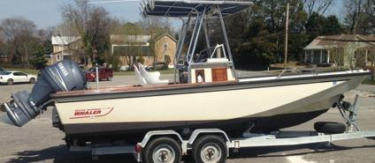 1984 Boston,, Whaler Outrage 22 and dual axle trailer for