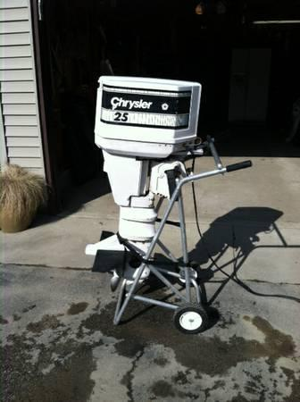 1984 chrysler 25 hp boat motor engine outboard for sale