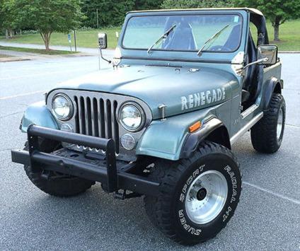 1984 jeep cj7 renegade sport utility 2 door 4 2l for sale in greensboro north carolina. Black Bedroom Furniture Sets. Home Design Ideas