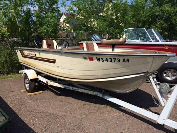 1984 starcraft 16 39 side console for sale in superior for Best aluminum fishing boat for the money