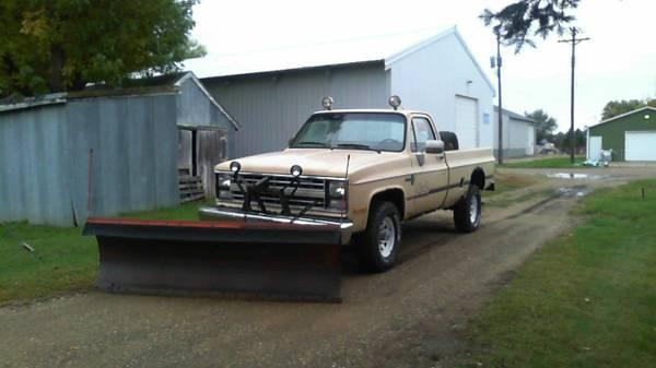 1985 chevy 2500 plow truck 4x4 for sale in willmar minnesota classified. Black Bedroom Furniture Sets. Home Design Ideas