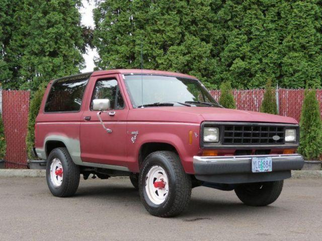 1986 Ford Bronco Ii Very Nice Interior For Sale In Happy