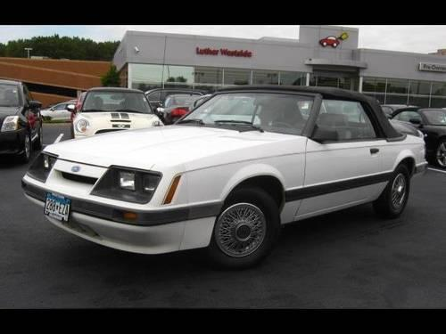 1986 ford mustang convertible convertible lx for sale in edina minnesota classified. Black Bedroom Furniture Sets. Home Design Ideas