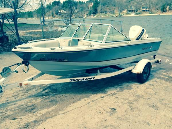 1986 rinker with 90hp johnson outboard for sale in for Outboard motors for sale in wisconsin