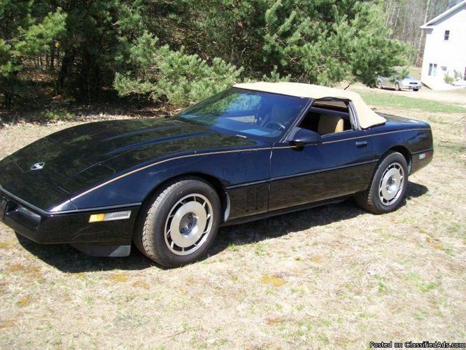 1987 corvette convertible for sale in sparta michigan classified. Black Bedroom Furniture Sets. Home Design Ideas