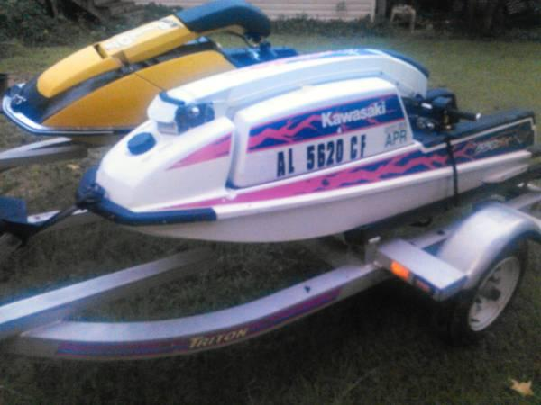 1987 Kawasaki 650 Sx And 92 550 Sx Stand Up Jet Skis For