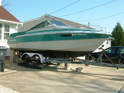 Toms River Nissan Test Drive >> 1987 Larson Delta Conic 215 boat 180 Mercruiser with tandem trailer for Sale in Toms River, New ...