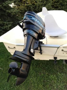 1987 sears gamefisher trihull 14 ft fiberglass fishing for Outboard motors for sale in wisconsin