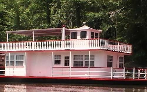 1988 56 Custom Built Mississippi River Boat Design House