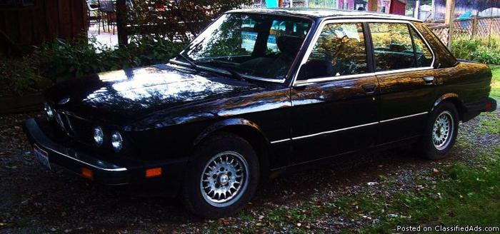 1988 bmw 528e 1988 car for sale in salem oh 4327354441 used cars on oodle classifieds. Black Bedroom Furniture Sets. Home Design Ideas