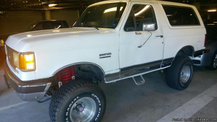 Ford San Leandro >> 1988 Ford Bronco XLT 4X4 lifted with rancho suspension for ...