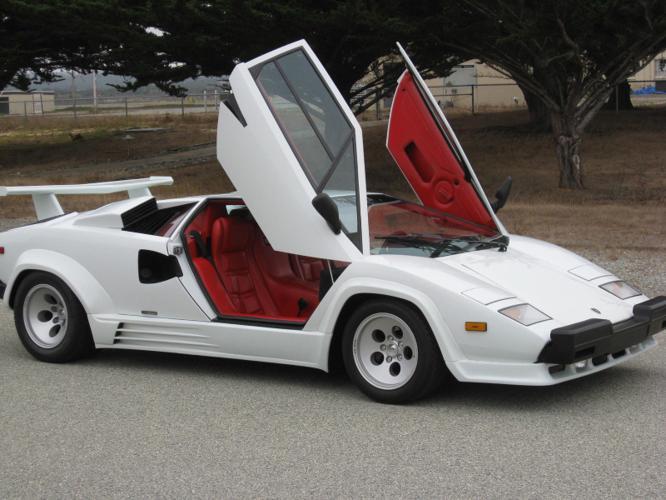 1988 Lamborghini Countach 5000 Quattrovalvole Red Leather 20k Miles