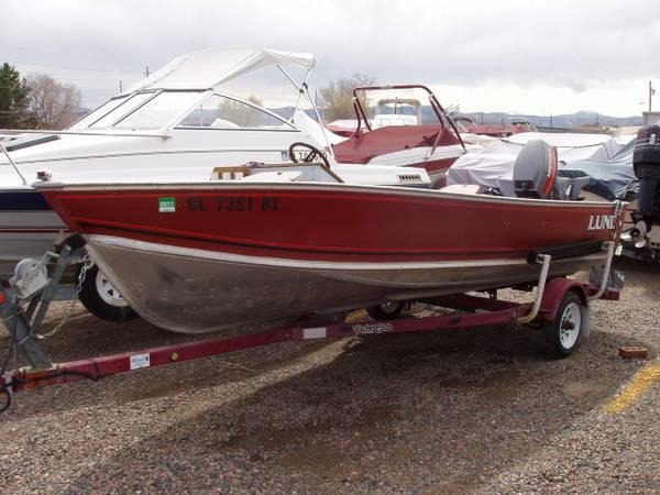1988 Lund Aluminum Fishing Boat with 40HP Mariner Outboard ...