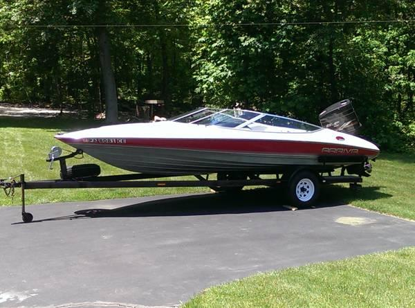 1989 arriva speed ski boat bowrider outboard 150 hp with for Bowrider boats with outboard motors