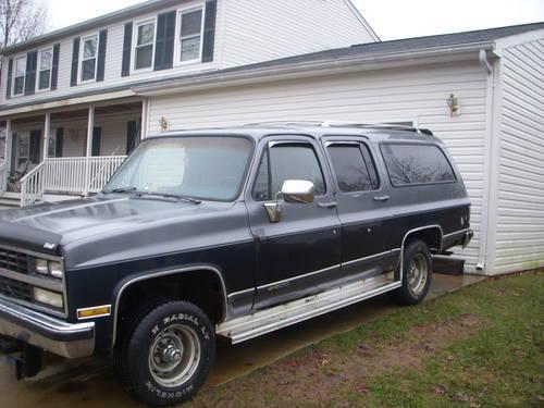 1989 chevy suburban 1989 chevrolet suburban 2500 trim car for sale. Black Bedroom Furniture Sets. Home Design Ideas